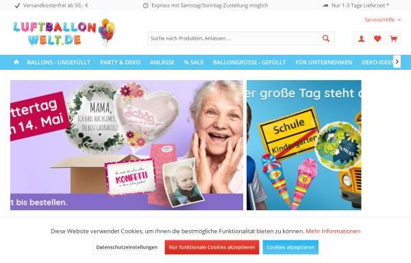 Vorschau von www.luftballonwelt.de, Luftballonwelt