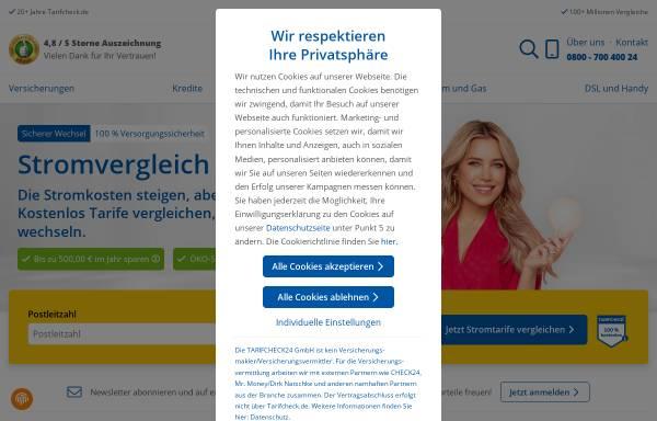 Vorschau von www.tarifcheck24.com, tarifcheck24.com