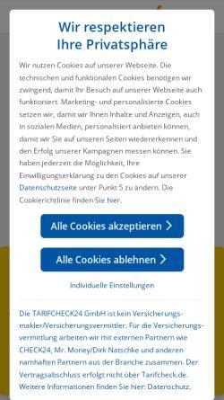 Vorschau der mobilen Webseite www.tarifcheck24.com, tarifcheck24.com
