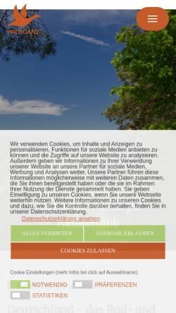 Vorschau der mobilen Webseite www.wanderkompass.de, wanderkompass.de - Das Portal für Wanderer