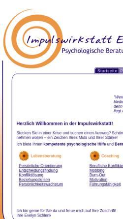 Vorschau der mobilen Webseite www.impulswirkstatt.de, Psychologische Beratung Online bei Problemen in der Partnerschaft