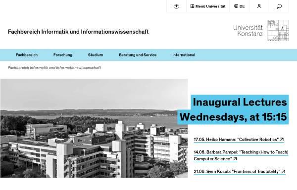 Vorschau von www.inf.uni-konstanz.de, Universität Konstanz: Fachbereich Informatik & Informationswissenschaft