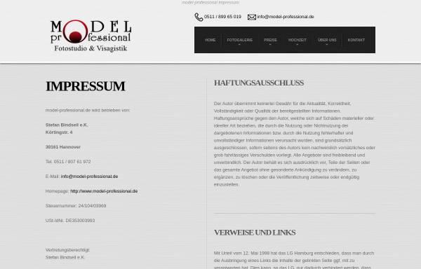 Vorschau von www.model-professional.de, model-professional.de
