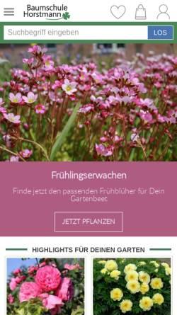 Vorschau der mobilen Webseite www.baumschule-horstmann.de, Baumschule Horstmann