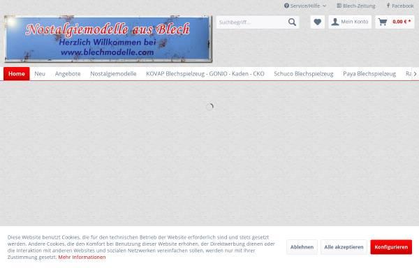 Vorschau von www.blechmodelle.com, blechmodelle.com - Nostalgiemodelle aus Blech
