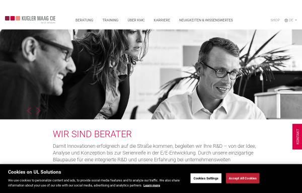 Vorschau von www.kuglermaag.de, Kugler Maag Cie GmbH