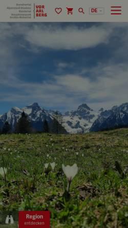 Vorschau der mobilen Webseite www.alpenregion.at, Urlaub in Vorarlberg - Alpenregion Bludenz