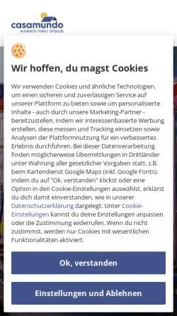 Vorschau der mobilen Webseite www.casamundo.de, Ferienhaus Dänemark