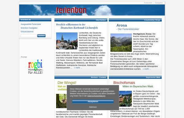 Vorschau von www.ferienbon.de, ferienbon.de - der schönste Urlaub, die besten Ferien ...
