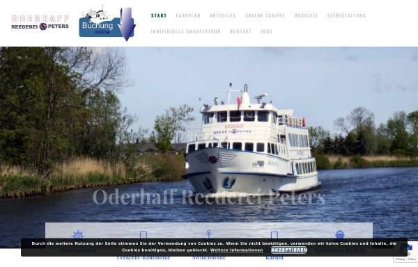 Vorschau von www.reederei-peters.de, Oderhaff Reederei Peters