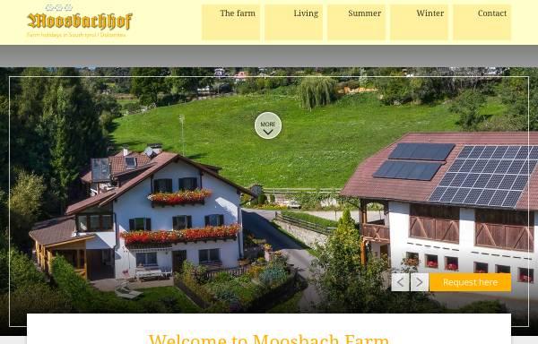 Vorschau von www.moosbachhof.it, Moossbachof - Ferienwohnung auf dem Bauernhof in Südtirol