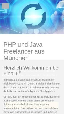 Vorschau der mobilen Webseite finait.com, FinaIT® München
