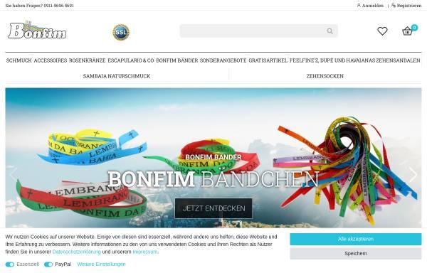 Vorschau von www.bonfim.de, Bonfim.de - Brasilien Lifestyle Shop