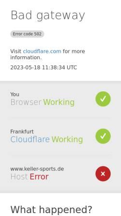 Vorschau der mobilen Webseite www.keller-sports.de, Tennis Rackets