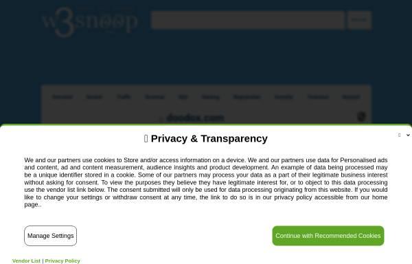 Vorschau von doodox.com, Doodox.com – SEO Analyse Tool