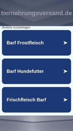 Vorschau der mobilen Webseite www.tiernahrungsversand.de, Tierbedarf Rochholz