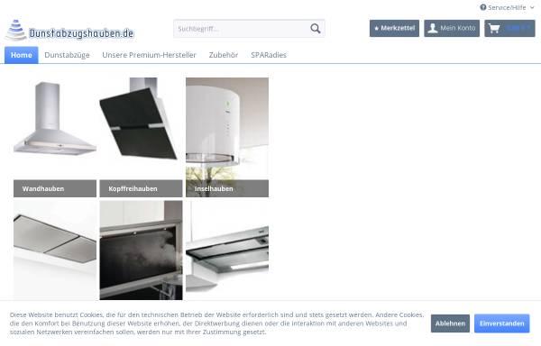 Vorschau von www.dunstabzugshauben.de, Dunstabzugshauben