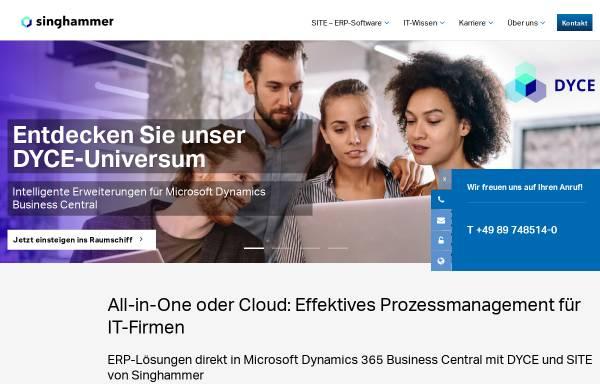 Vorschau von www.singhammer.com, Singhammer dtSoftware GmbH