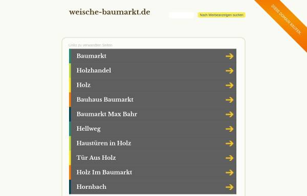 Vorschau von www.weische-baumarkt.de, Baumarkt Weische Beverungen