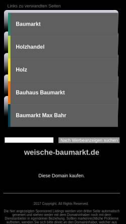 Vorschau der mobilen Webseite www.weische-baumarkt.de, Baumarkt Weische Beverungen
