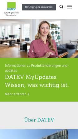 Vorschau der mobilen Webseite www.datev.de, DATEV - Softwarelösungen für Unternehmen