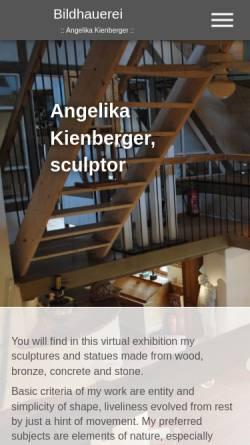 Vorschau der mobilen Webseite www.bildhauerkunst.net, Angelika Kienberger, Bildhauerin