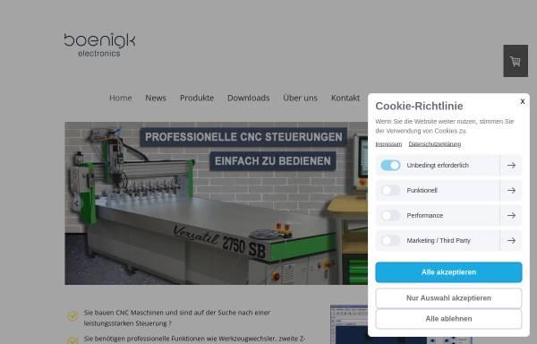 Vorschau von www.boenigk-electronics.com, Boenigk Electronics