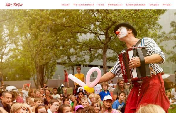 Vorschau von www.herr-balzer.de, Herr Balzer - Der Clown aus Berlin