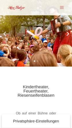 Vorschau der mobilen Webseite www.herr-balzer.de, Herr Balzer - Der Clown aus Berlin