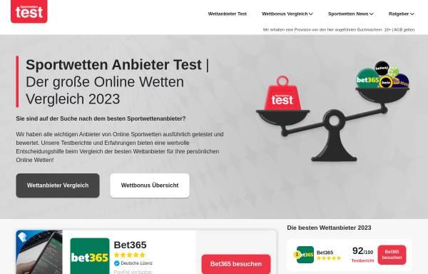 Vorschau von www.wettportal.com, Wettportal.com - Alles über Sportwetten