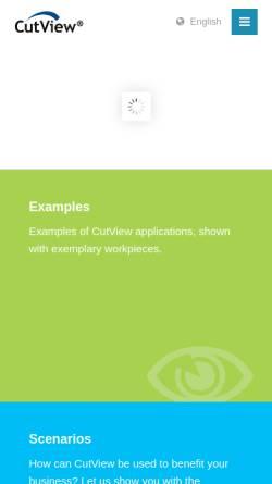 Vorschau der mobilen Webseite www.cutview.de, Cutview® by Ingenieurbüro Reinhard Thomann