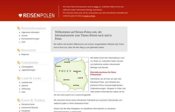 Vorschau von www.reisen-polen.com, Reisen-Polen.com - Willkommen in Polen!
