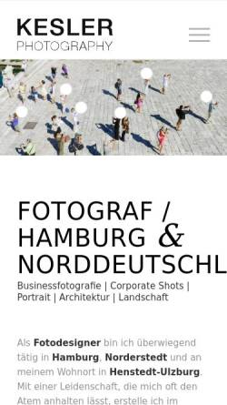 Vorschau der mobilen Webseite www.kesler.de, Photography Andreas Kesler