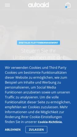 Vorschau der mobilen Webseite www.autoaid.de, autoaid.de – Online-Kfz-Diagnose & Werkstatt-Portal