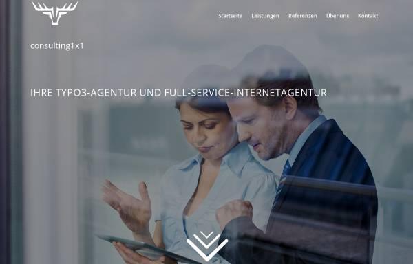 Vorschau von www.consulting1x1.com, consulting1x1 - Ihre TYPO3 Agentur