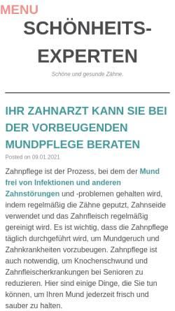 Vorschau der mobilen Webseite www.schoenheits-experten.de, Schönheits-Experten.de