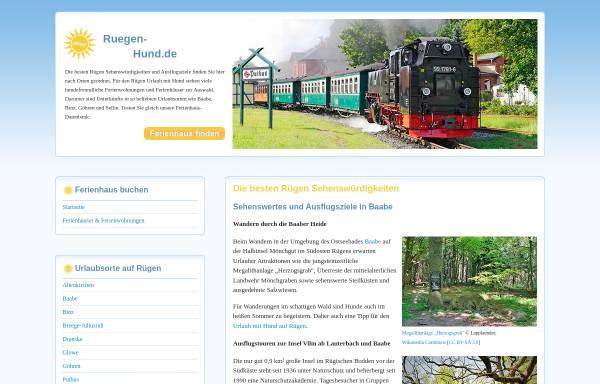 Vorschau von www.allesruegen.de, allesruegen.de - Informationen zum Urlaub auf der Insel Rügen