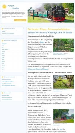 Vorschau der mobilen Webseite www.allesruegen.de, allesruegen.de - Informationen zum Urlaub auf der Insel Rügen
