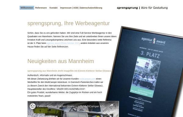 Vorschau von www.sprengsprung.de, sprengsprung | Büro für Gestaltung