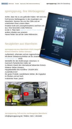 Vorschau der mobilen Webseite www.sprengsprung.de, sprengsprung | Büro für Gestaltung