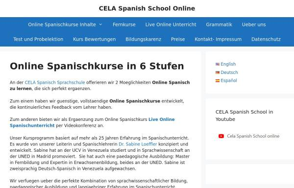 Vorschau von cela-ve.com, CELA