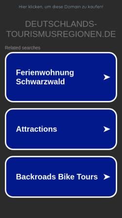 Vorschau der mobilen Webseite www.deutschlands-tourismusregionen.de, Die Tourismusregionen Deutschlands