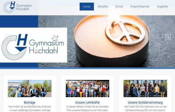 Vorschau von www.gymnasium-hochdahl.de, Gymnasium Hochdahl in Erkrath