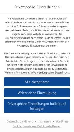 Vorschau der mobilen Webseite www.gymnasium-hochdahl.de, Gymnasium Hochdahl in Erkrath