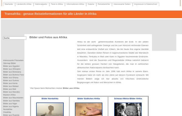 Vorschau von www.transafrika.org, Fotos aus Afrika auf TransAfrika.de