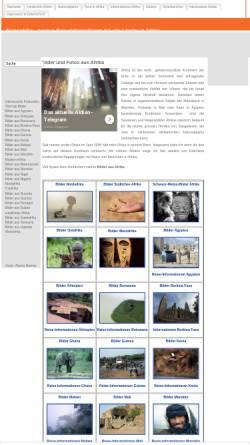 Vorschau der mobilen Webseite www.transafrika.org, Fotos aus Afrika auf TransAfrika.de
