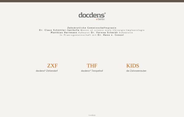 Vorschau von www.docdens.de, Zahnarzt Dr. Schüttler-Janikulla & Partner - Zahnarzt und Implantologe MSc