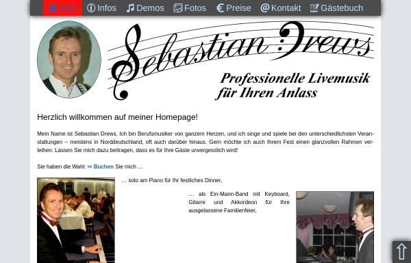 Vorschau von www.sebastian-drews.com, Sebastian Drews - Alleinunterhalter und Pianist