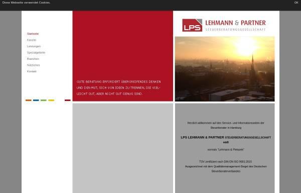 Vorschau von www.lehmann-piekarek.de, Lehmann & Piekarek - Steuerberatungsgesellschaft in Hamburg
