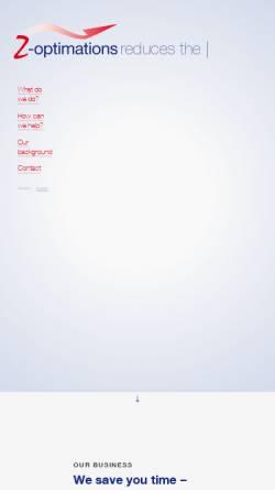 Vorschau der mobilen Webseite www.z-opti.com, Z-Optimations, Inh. Michael Zwerger